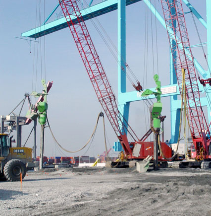 Prevent Liquefaction of  fill under container cranes. Achieve CPT tip resistance of over 18 MPa in compactable layers.