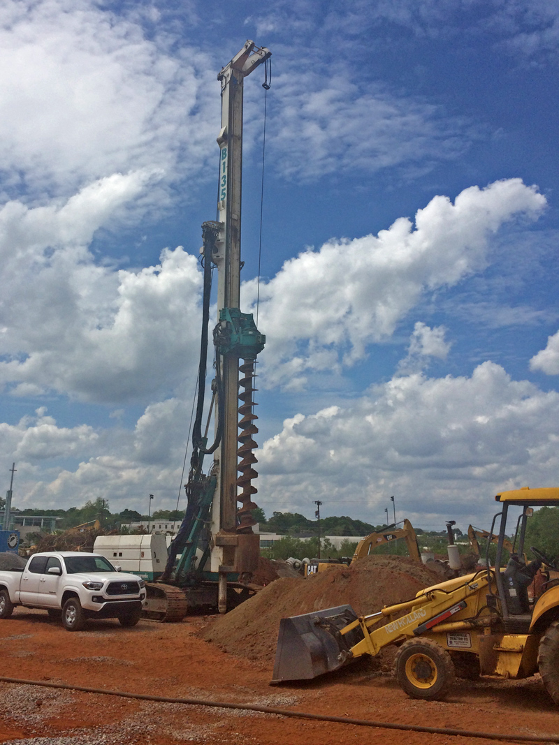 Predrilling Rig for Dry Top Feed Stone Columns