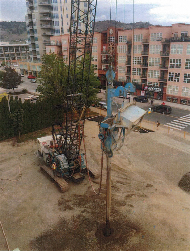 Vancouver Piledriving installing 200 Stone Columns to 10 m depth
