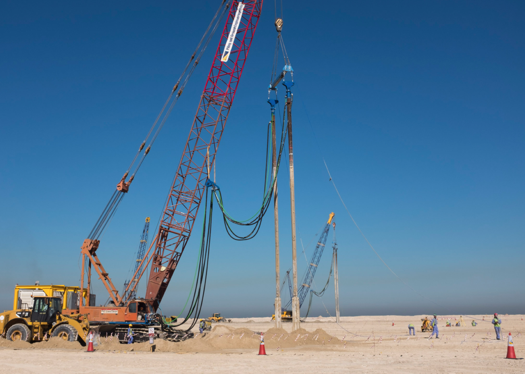Up to three Tandem B41 rigs were working on this project