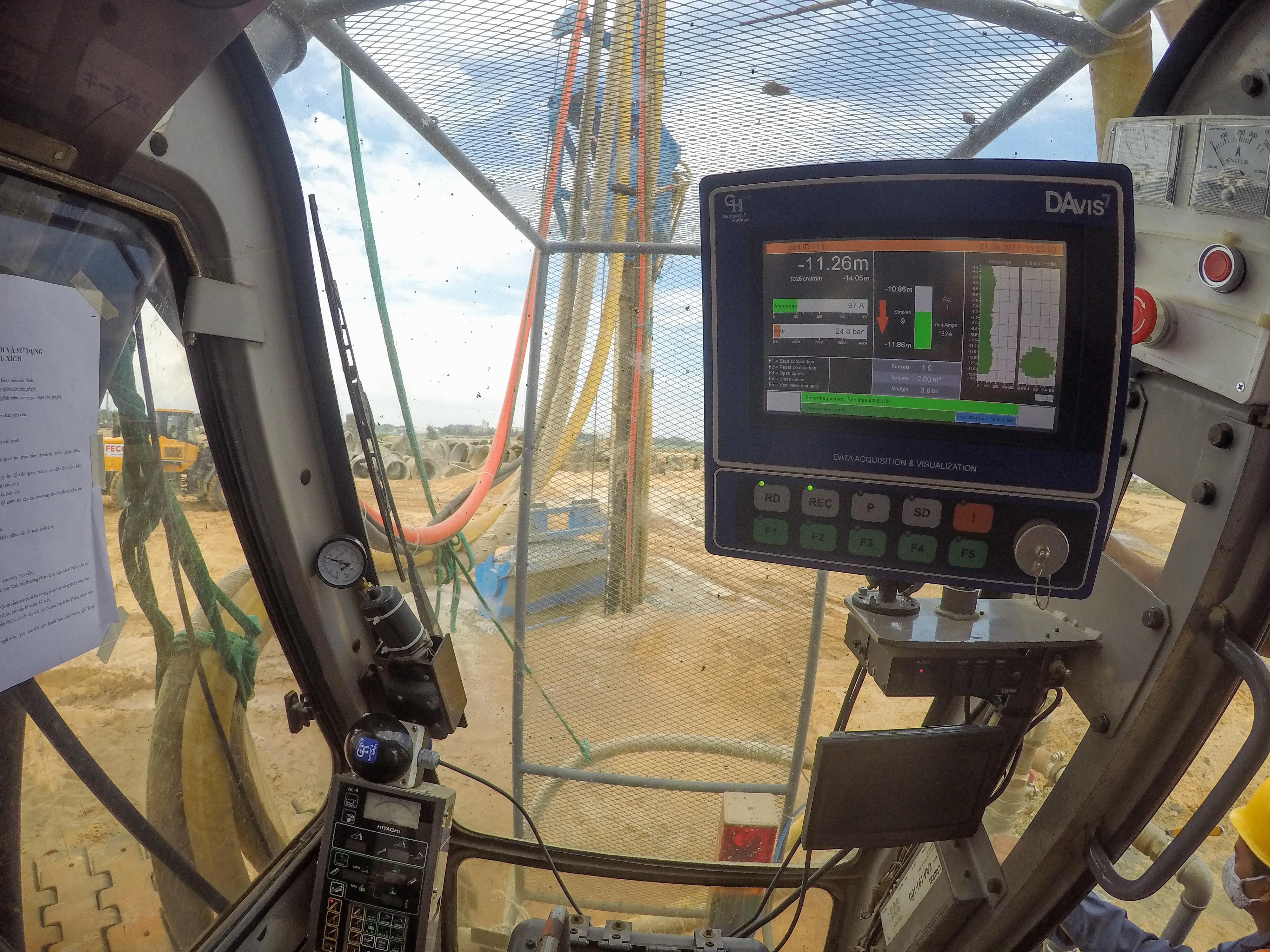 Betterground Operator Guidance System assures real time plot of estimated column diameter over depth